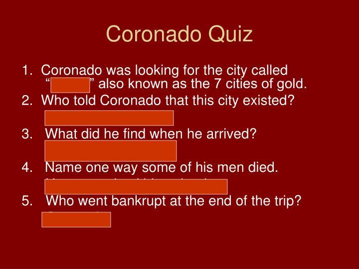 Coronado Quiz