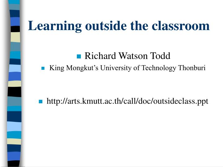 learning outside the classroom n.