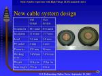 new cable system design