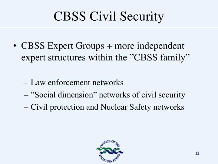 """CBSS Expert Groups + more independent expert structures within the """"CBSS family"""""""