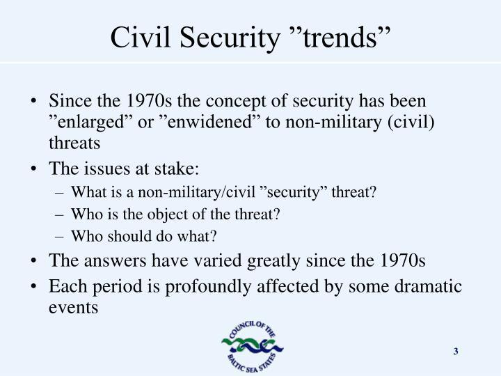 Civil security trends