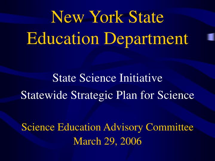 new york state education department n.