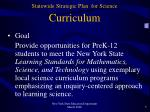statewide strategic plan for science curriculum