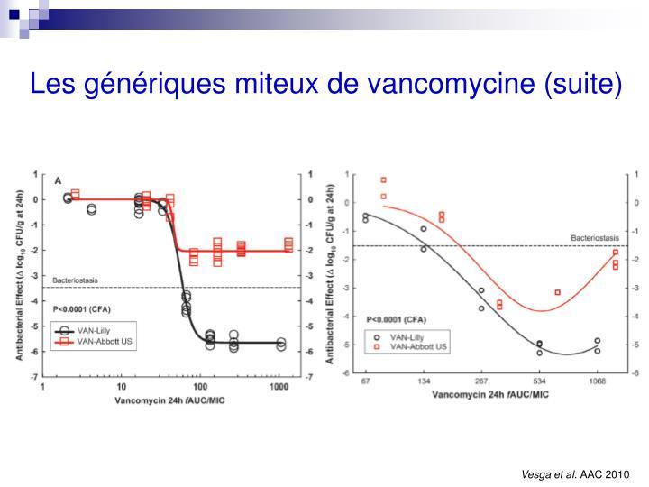 Les génériques miteux de vancomycine (suite)