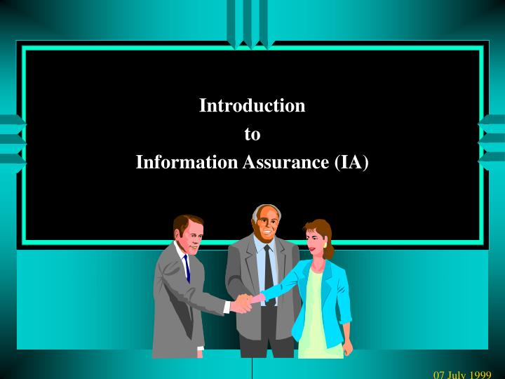 introduction to information assurance plan Instructions to complete quality assurance surveillance plan (qasp) template 1 introduction a the following documents are references: i.