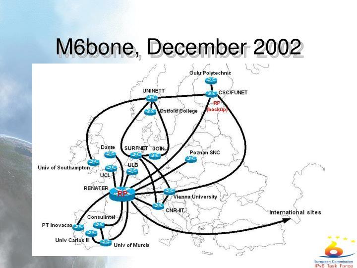 M6bone, December 2002