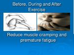 before during and after exercise