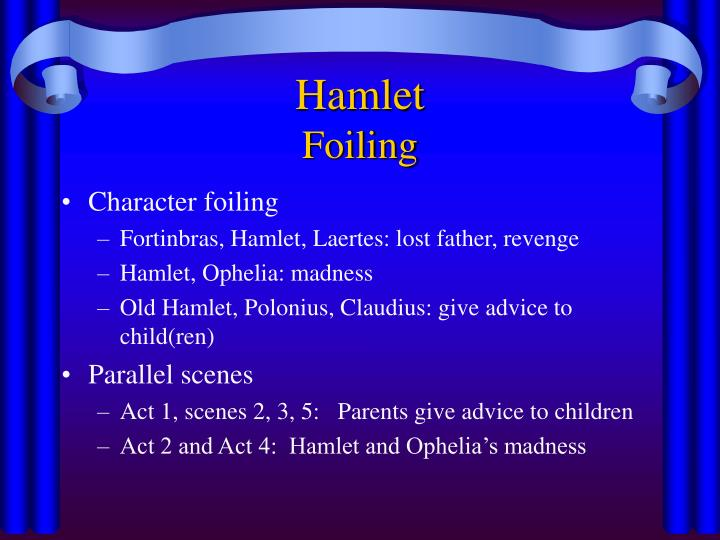 the swordplay of hamlet and laertes essay Comparing and contrasting hamlet with both laertes and fortinbras, in order to find out why shakespeare created these parallels.