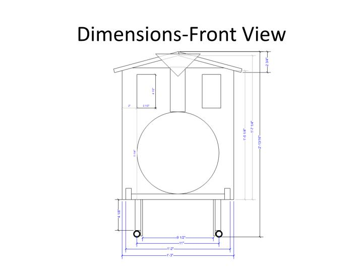 Dimensions-Front View
