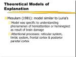 theoretical models of explanation12