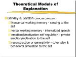 theoretical models of explanation16