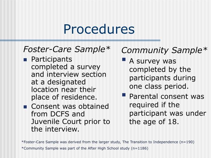 Foster-Care Sample*