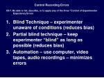 control recording errors1