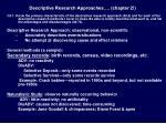descriptive research approaches chapter 2