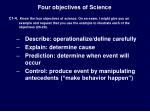 four objectives of science