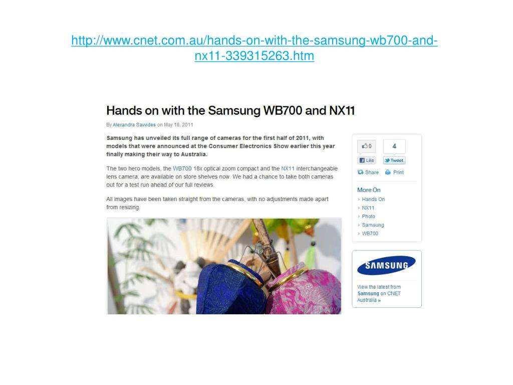 http www cnet com au hands on with the samsung wb700 and nx11 339315263 htm l.