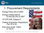 1 procurement requirements