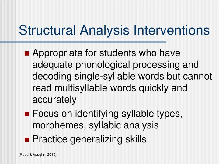 Structural Analysis Interventions