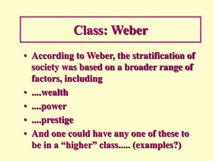 Class: Weber