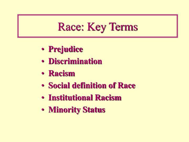 Race: Key Terms