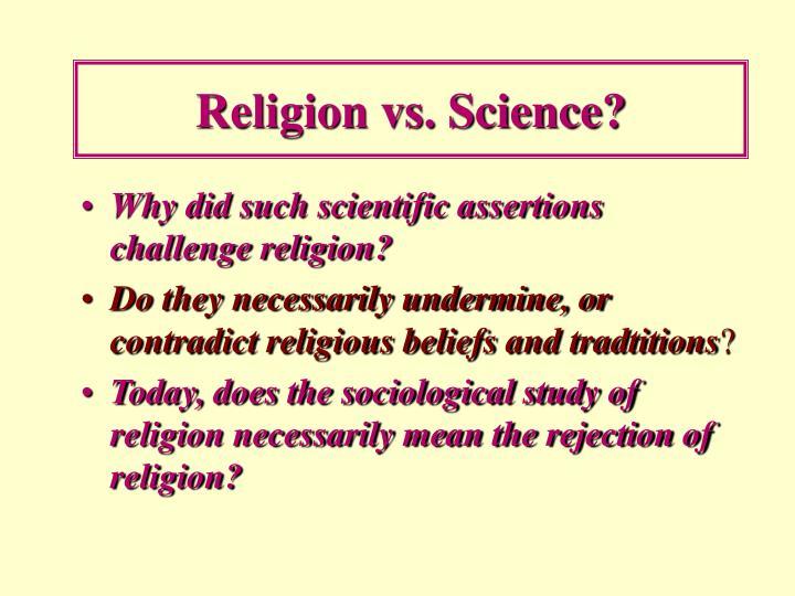 Religion vs. Science?