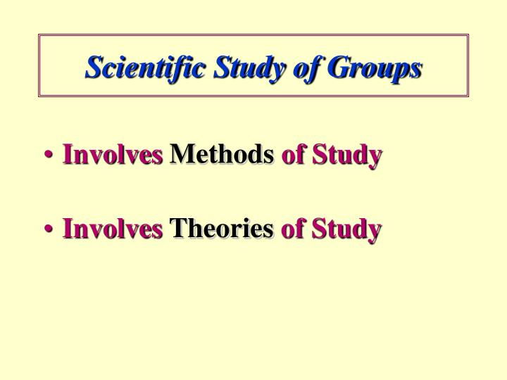 Scientific study of groups