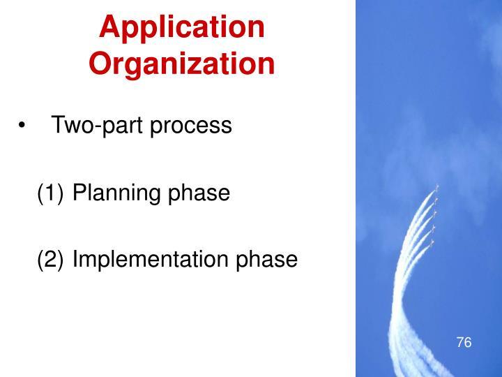 Application Organization