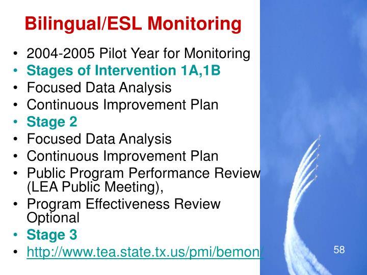 Bilingual/ESL Monitoring