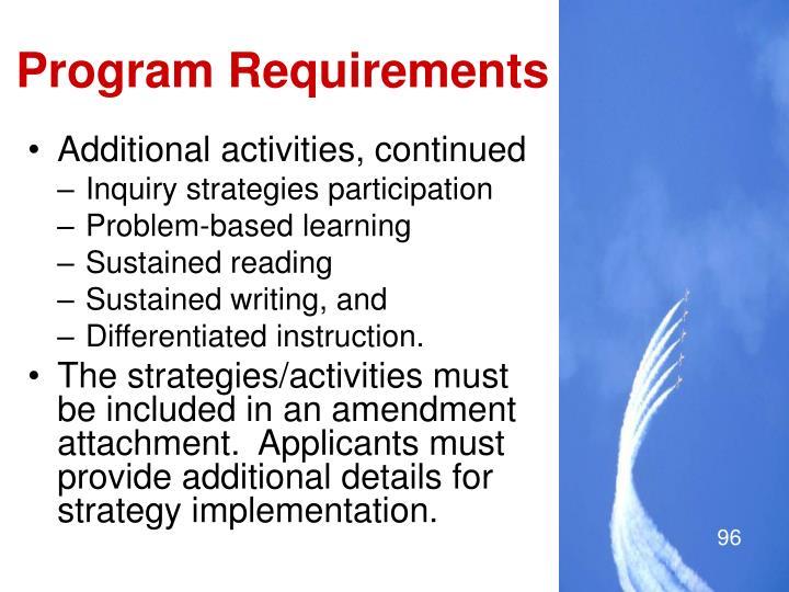 Program Requirements
