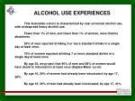 alcohol use experiences