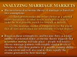 analyzing marriage markets