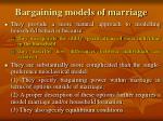 bargaining models of marriage