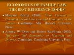 economics of family law the best reference books