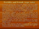 fertility and female wage rates