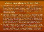 marital opportunism dnes 1996