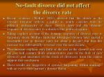 no fault divorce did not affect the divorce rate