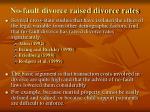 no fault divorce raised divorce rates