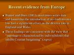 recent evidence from europe