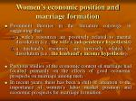 women s economic position and marriage formation