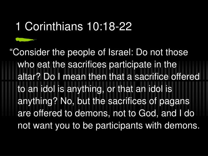 1 Corinthians 10:18-22