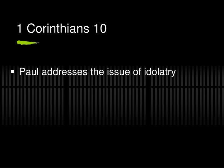 1 Corinthians 10