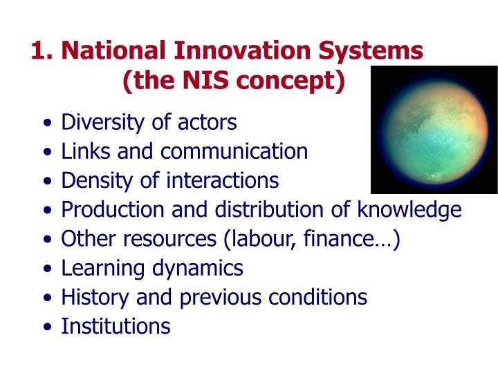 1 national innovation systems the nis concept