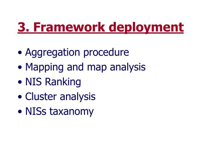 3. Framework deployment