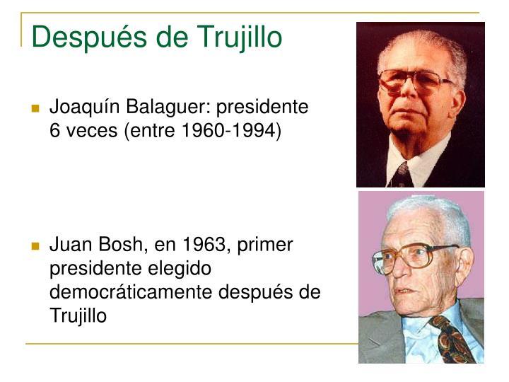 Joaquín Balaguer: presidente 6 veces (entre 1960-1994)