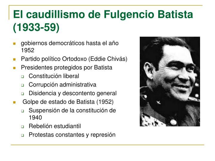 gobiernos democráticos hasta el año 1952