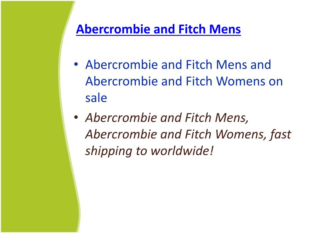 Abercrombie and Fitch Mens