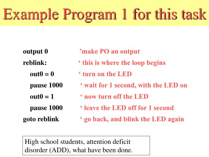 Example Program 1 for this task