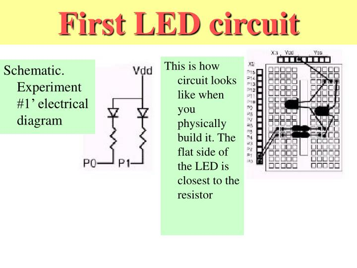 First LED circuit