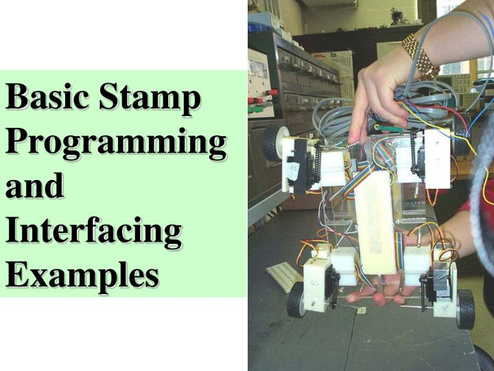 Basic Stamp Programming and Interfacing Examples