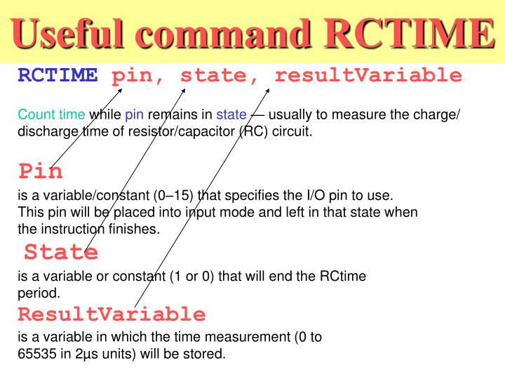 Useful command RCTIME
